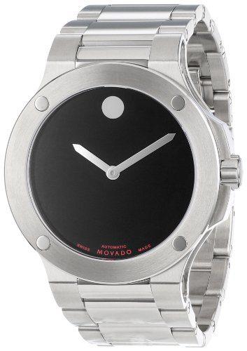 Movado Men's 606290 SE Extreme Stainless-Steel Bracelet Black Dial Watch