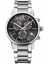 Calvin Klein Post Minimal Silver Tone Dial Men's Watch - K7627161