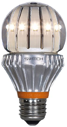 Switch Lighting A22131Ca1-R Classic A19 Led Light Bulb With 60-Watt Replacement And Clear Lens, Soft White (2700K)