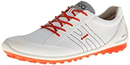 ECCO Men\'s Biom Zero II Golf Shoe,White/Fire,44 EU/10-10.5 M US