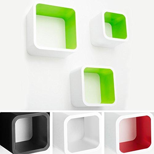 casa-pura-Design-Wandregal-Cambridge-Set-aus-3-Wrfeln-Hochglanz-freischwebend-versteckte-Halterung-gesundheitsfreundliche-Materialien-4-Farben-wei-limonengrn
