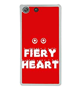 Printvisa Fiery Heart 2D Hard Polycarbonate Designer Back Case Cover For Sony Xperia M5 Dual :: Sony Xperia M5 E5633 E5643 E5663