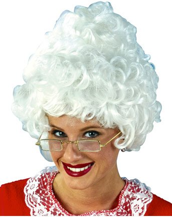 Mrs. Claus Wig Holiday Christmas X-Mas Costume