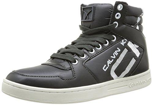 Calvin Klein Jeans - Perico Shiny Nylon Smooth, Scarpe Boxe da uomo, grigio (dark grey), 40