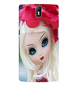 Fuson 3D Printed Cute Doll Designer Back Case Cover for OnePlus One - D748