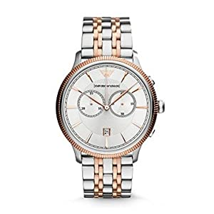 Emporio Armani AR1826 Rose Gold Two Tone Chronograph Men's Watch