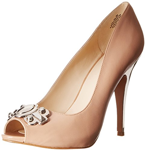 Nine West Women's Filipa Leather Dress Pump, Taupe, 11