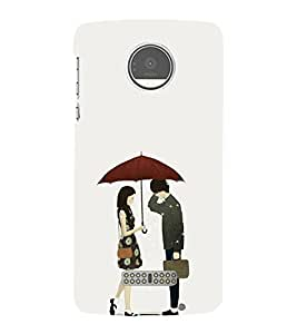Love Couple 3D Hard Polycarbonate Designer Back Case Cover for Motorola Moto Z Force :: Motorola Moto Z Force Droid for USA