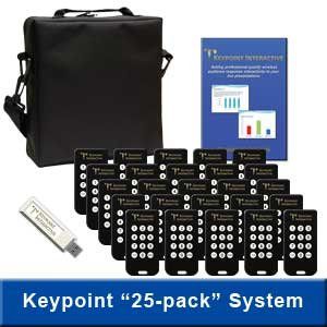 Keypoint Interactive Audience Response System With 25 Keypads