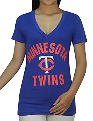 Pink Victoria's Secret MLB Minnesota Twins Womens V-Neck T Shirt