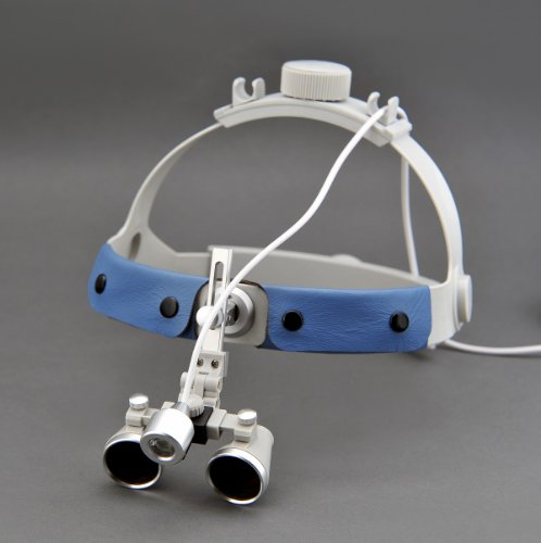 3.5X Headband Binocular Surgical Loupes For Glasses Wearer & High Brightness Sz-1 Medical Surgical Headlight