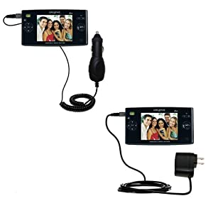 Car and Wall Charger Essential Kit for the Creative Zen Portable Media Center - uses Gomadic TipExchange Technology