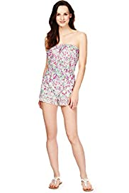 Pure Cotton Ditsy Floral Broderie Playsuit