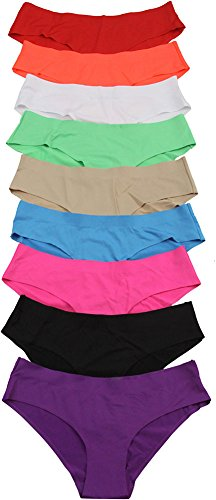 ToBeInStyle Women's Pack of 6 Laser Cut Brief Panties Size: X-Large