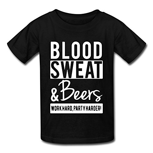 ldmh-youths-unisex-blood-sweat-and-beers-t-shirt-black