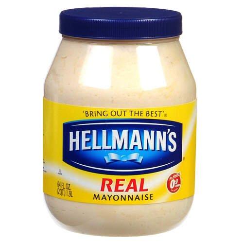 Condiments: Hellmann's Real Mayonnaise - 64 oz. jar