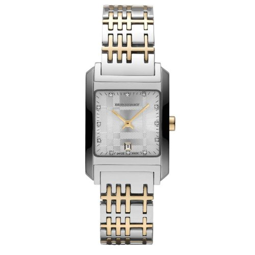 Burberry Gold and Stainless Steel Duotone Ladies Watch with date and crystals BU1584