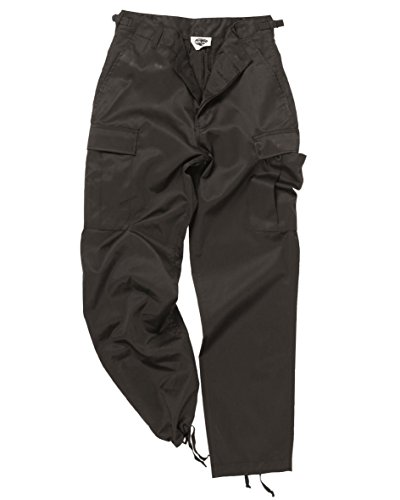 Mil-Tec Men's Us Army Ranger Trousers Work Combat Military Casual Pants Large Black (Ranger Combat Pants compare prices)