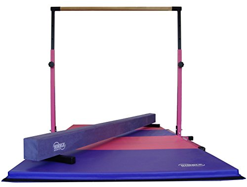 Little Gym Pink//Light Blue Gymnastics Folding Mat Tan Low Balance Beam White Adjustable Horizontal Bar