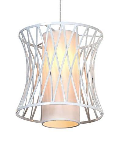 Light&Co. Lámpara De Suspensión Cage Metal/Blanco
