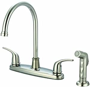 Olympia Faucets K 5372 BN Two Handle Kitchen Faucet PVD
