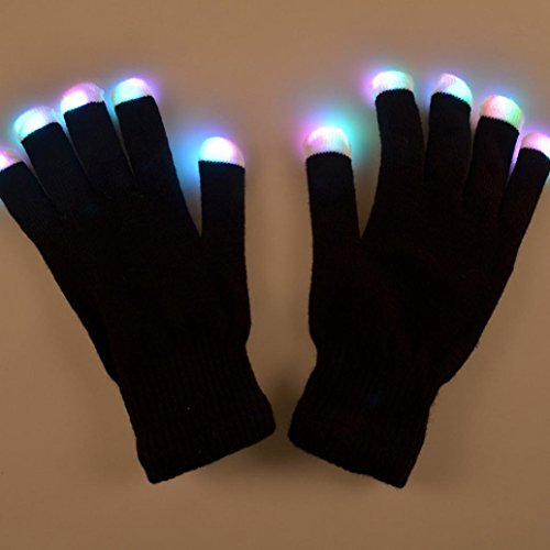 DZT1968® LED Gloves Party Light Show Gloves & Lightshow Dancing Gloves For Clubbing, Rave, Birthday, EDM, Disco Dubstep Party