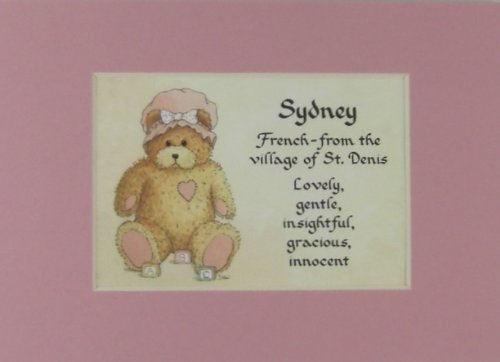 Personalized Baby Name Sydney Nursery Wall Decor Keepsake Gift Made In The Usa