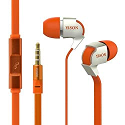 Yison EX830O Orange Earphone with Mic