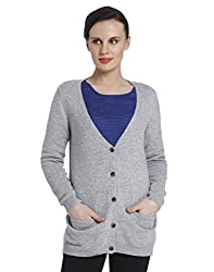 Only Women'S Casual Cardigan (_5712619239287_Light Grey Melange_Small_)
