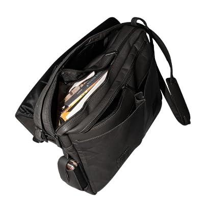 MLB Black Leather Laptop Messenger Bag