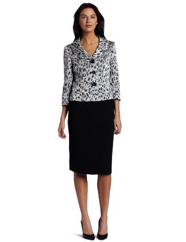 Lesuit Women's Animal Print Skirt Suit