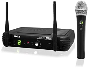 PylePro PDWM1902 Premier Series Professional UHF Wireless Handheld Microphone System with Selectable Frequencies from Sound Around