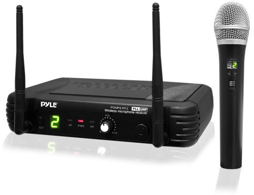 Pylepro Pdwm1902 Premier Series Professional Uhf Wireless Handheld Microphone System With Selectable Frequencies