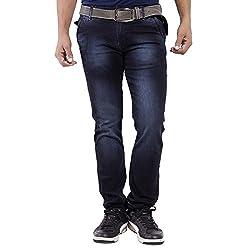 URBAN FAITH Men's Regular Black Jeans