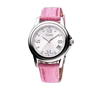 Fendi Loop Medium Round Pink Fendi Strap Watch - F238367