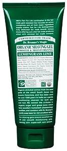 """Dr. Bronner's Magic """" All-One"""" Organic Fair Trade Shaving Soap Gel Lemongrass Lime Moisturizing 7 US Fl. OZ."""