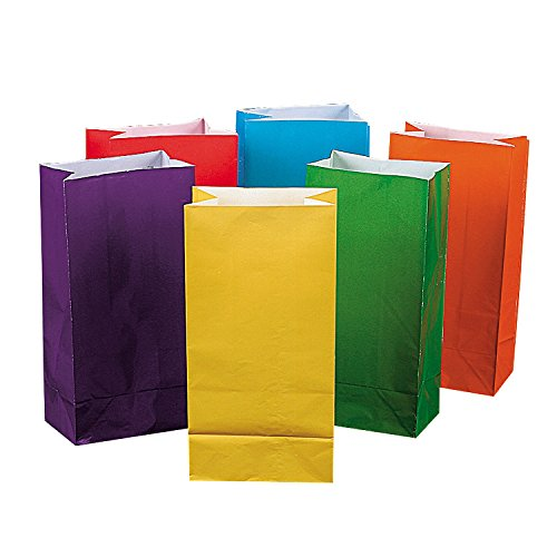Bright Color Paper Bags  - Bulk