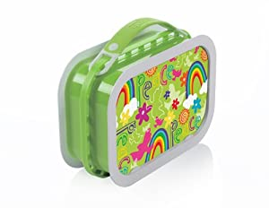 yubo deluxe lunchbox with peace design green. Black Bedroom Furniture Sets. Home Design Ideas