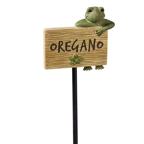 Grasslands Road Frog Figurine Oregano Garden Marker, 27-Inch, Set Of 3 front-969156