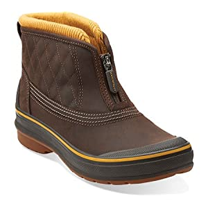 Clarks Womens Muckers Slope In Brown Leather, 5 Medium