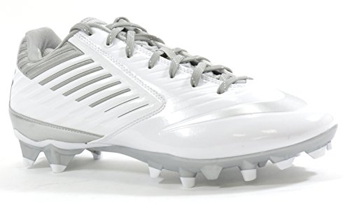Nike Men's Vapor Speed LAX Lacross Shoes (10.5 D(M) US, White/Metallic Silver) (Nike Vapor Lax compare prices)