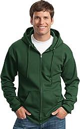 Port & Company Classic FullZip Hooded Sweatshirt-L (Charcoal),4X Big,Dark Green