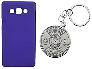 Toppings Hard Case Cover With 50 Years Calender KeyChain For Samsung Galaxy J1Ace - Purple