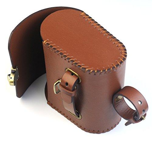 Handmade Leather PU England Vintage Bike Seat Saddle Tail Tools Bag, to match BROOKS Cushion Size 13*10.5*7cm 3