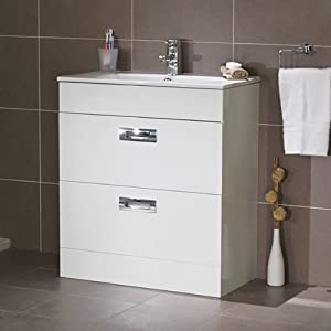 700 Vanity Unit With Basin For Bathroom Ensuite Cloakroom Luxury Soft Closi