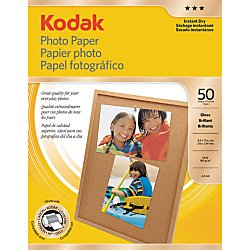 KODAK Photo Paper for Inkjet Prints/Gloss, 8.5in x 11in – 50 sheets
