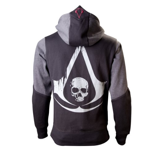 Assassins Creed 4 Hoodie, Nero (Black Grey Character), S