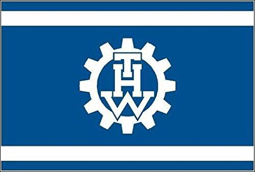 U24 Bandiera THW WERK Boot hilf tecnico bandiera di qualità 80 x 120 cm