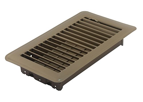 Accord ABFRBR48 Floor Register with Louvered Design, 4-Inch x 8-Inch(Duct Opening Measurements), Brown (Angled Floor Vents compare prices)