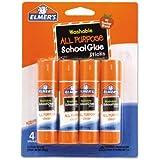 Elmer's Washable All Purpose School Glue Sticks, 4/Pack - Includes 4 glue sticks.